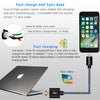 Two Apple iPhone Breaded High-Quality Lightning Charging Cables