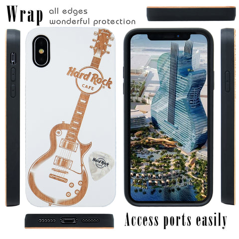 Hard Rock White Guitar Phone Case