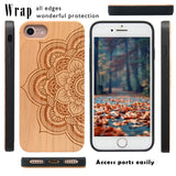 Sunflower Wood Protective Case by iProducts US for iPhone 6,6S,7,8,X,10,Plus