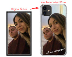 Personalized Picture, Logo, Words Clear Case Includes Screen Protector! - iProductsUS