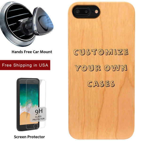 Custom Engraved Picture Personalized iPhone or Samsung Note Galaxy Case with Screen Protector - iProductsUS