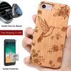 Hummingbird Wood Case Includes Screen Protector or Magnetic Car Mount. - iProductsUS