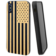 American Flag Phone Case Offers Screen Protector or Magnetic Car Mount (Black Bamboo) - iProductsUS