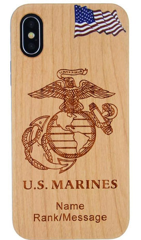 Marines Phone Case with Rank / Name