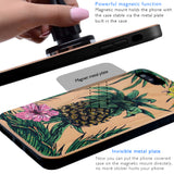 3D Pineapple Wood iPhone Case with Magnetic Car Mount