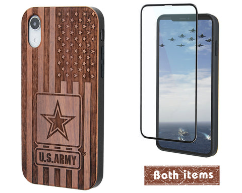 US Army Wood Phone case