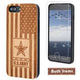 US Army Logo Wood Phone Case