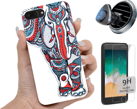 White Elephant Phone Case Includes Screen Protector or Car Mount