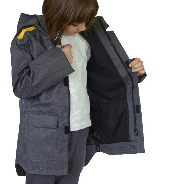 Reflective Kids Jacket by Zapped Outfitters - Inside View