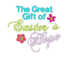 Easter designs sprout embroidery designs easter quote machine embroidery design the great gift of easter is hope embroidery design negle Image collections