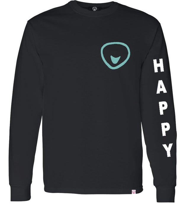 Found My Happy - Happy  Soul Long Sleeve 2 Sided Print T-Shirt - Found My Happy