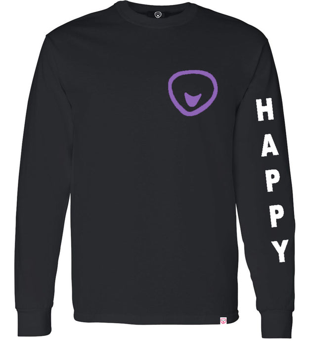 Happy Is Good For The Soul 2 Sided Long sleeve Print *3 color options - Found My Happy