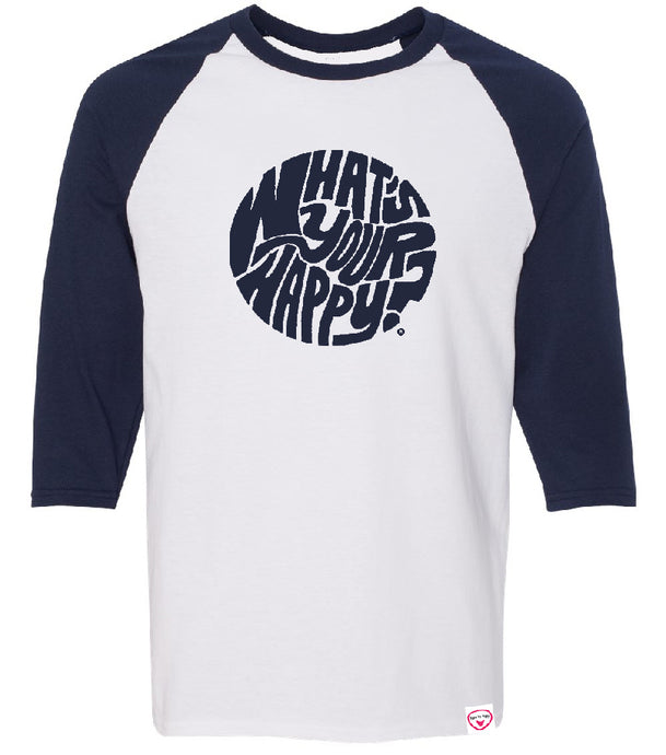 Found My Happy - What's Your Happy? 3/4 sleeve Raglan - Found My Happy