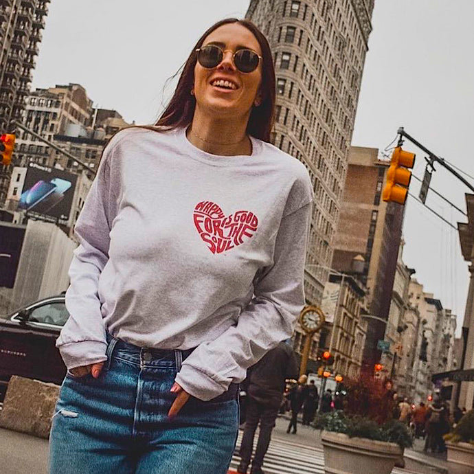 Happy Is Good For The Soul Heart Women's Tee *3 color options - Found My Happy