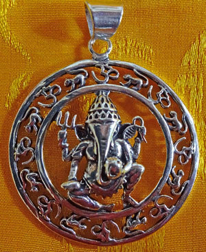 Ganesh with Om Pendant #20