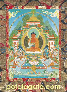 Amitaba Sacred Art Card #1