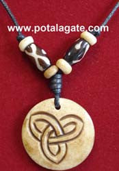 Celtic Knot Bone Necklace #16