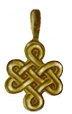 GOLD INFINITE KNOT PENDANT #2