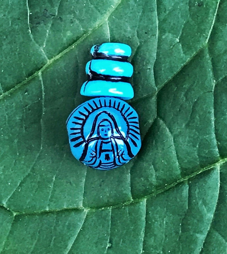 Carved Buddha Guru Bead #5