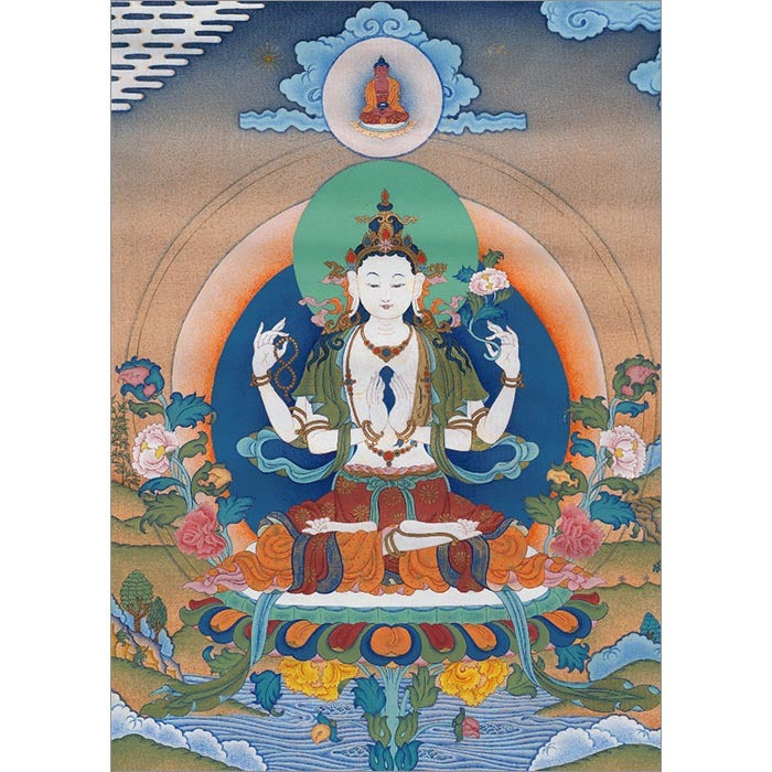 White Tara Standing Greeting Card #30