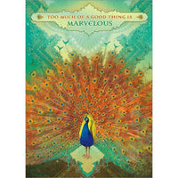 Marvelous Peacock Greeting Card