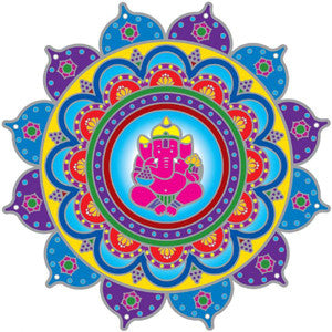 Ganesh Mandala Decal #4