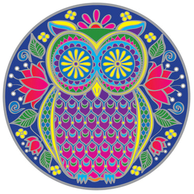 Midnight Owl Mandala Sticker # 36