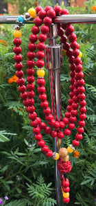 Cinnabar Mala with Lotus Guru Bead #56