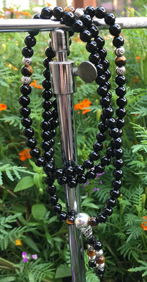 Onyx with happy Buddha Mala #62