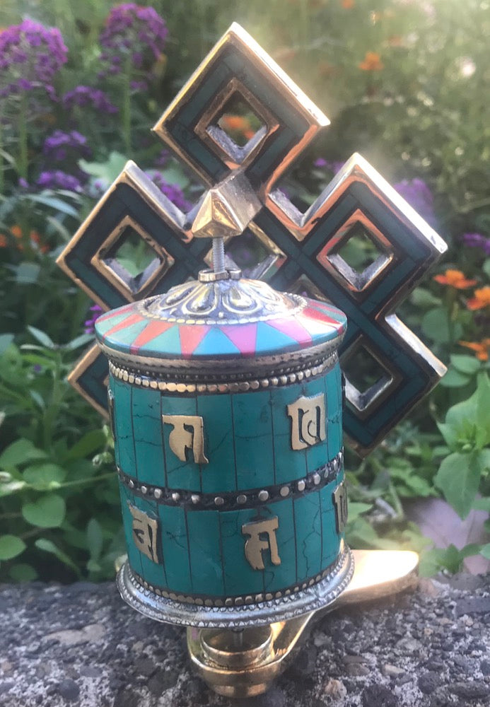 Mani Prayer Wheel with Infinite Knot #10