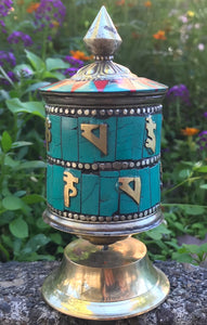 Jeweled Prayer Wheel Lg #5