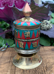 Prayer Wheel Inlaid #23