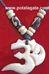 Om Bone Necklace #12