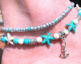 Multi layer Anklet with Anchor