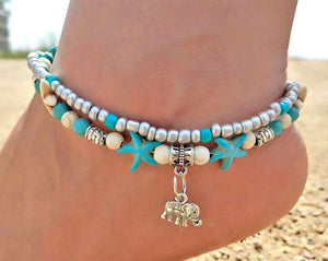 Elephant Anklet with Multi layer