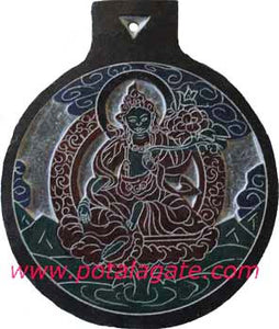 Green Tara Stone Plaque #2