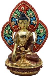 Buddha Statue with Backrest