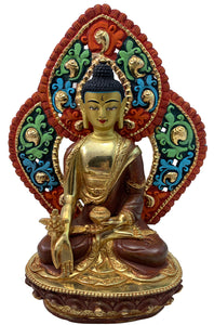 Medicine Buddha Statue with Backrest