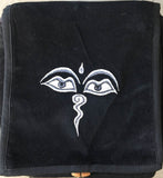 Buddha Eyes Embroidered Velvet Shoulder Bag - Small #7