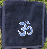 Om Embroidered Velvet Bag - Small #17