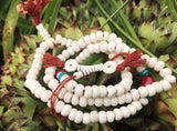 Bone Mala with Spacer Bead #14