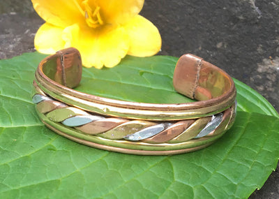 Three Metal Twist Bracelet #4