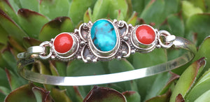 Turquoise Coral Bracelet #17