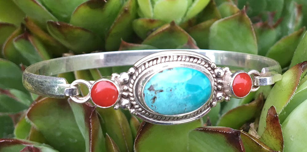 Turquoise Silver Bracelet #7