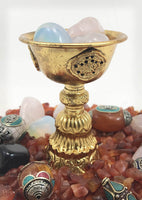 Butter lamp Ornate Gold Med
