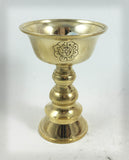 Butter lamp Engraved Brass Lg #3