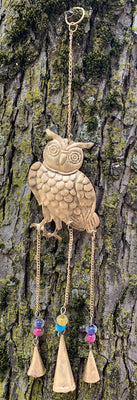 Etched Owl Chime