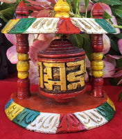 Colorful Wooden Prayer Wheel #14