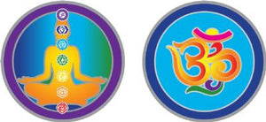 Chakra & Om Small Decal