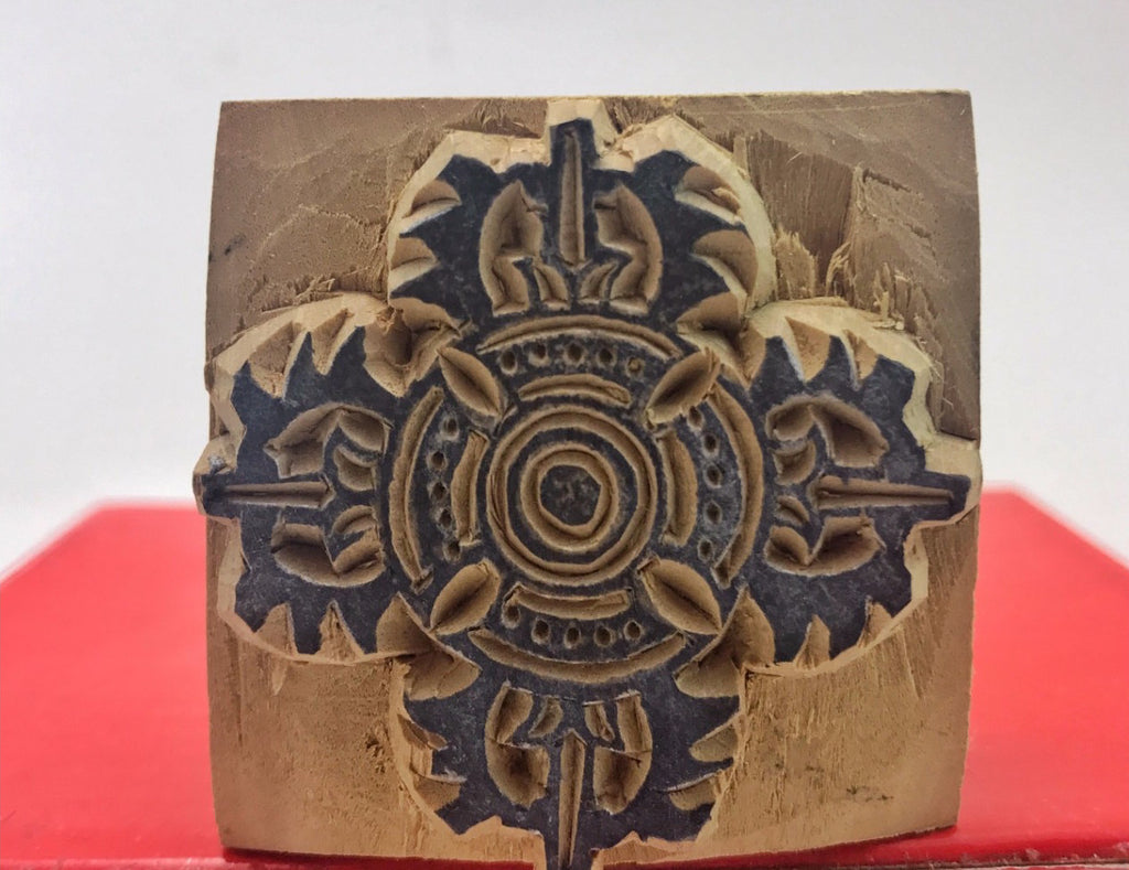 Double Dorje Wood Stamp #9